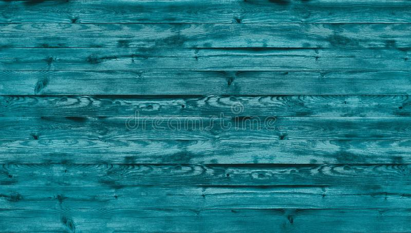 Blauwe gekleurde houten textuur, hoogste mening van houten lijst Sluit omhoog van rustieke muurachtergrond, textuur van oude hoog royalty-vrije stock afbeelding