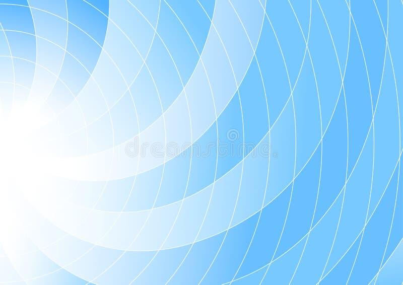 Blauwe gekleurde wervelingsachtergrond - abstractie vector illustratie