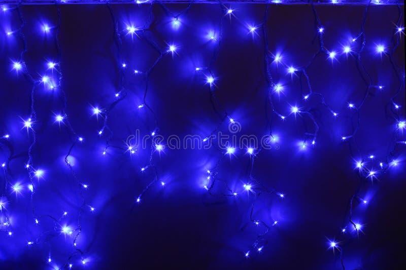 Blauwe geleide lichten royalty-vrije stock fotografie