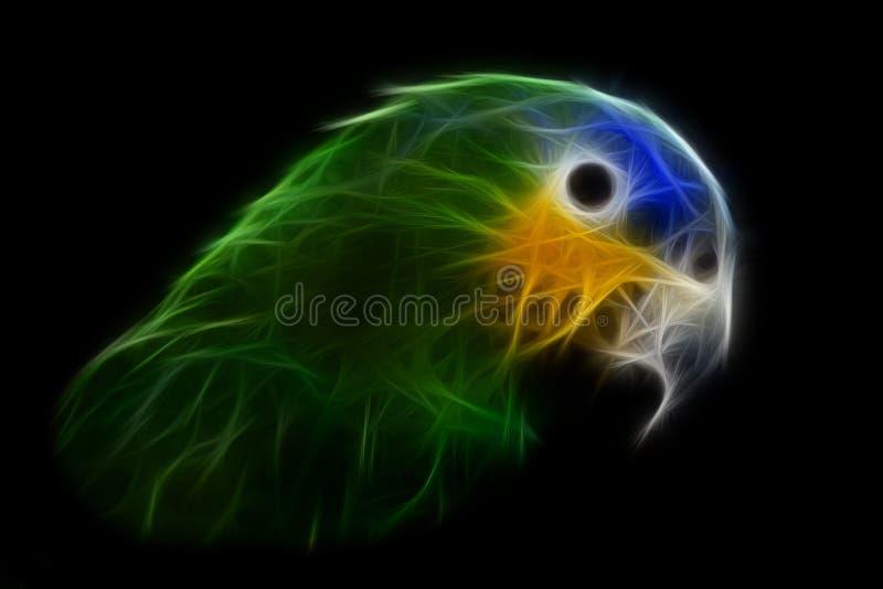 Blauwe geleide papegaai royalty-vrije stock afbeelding