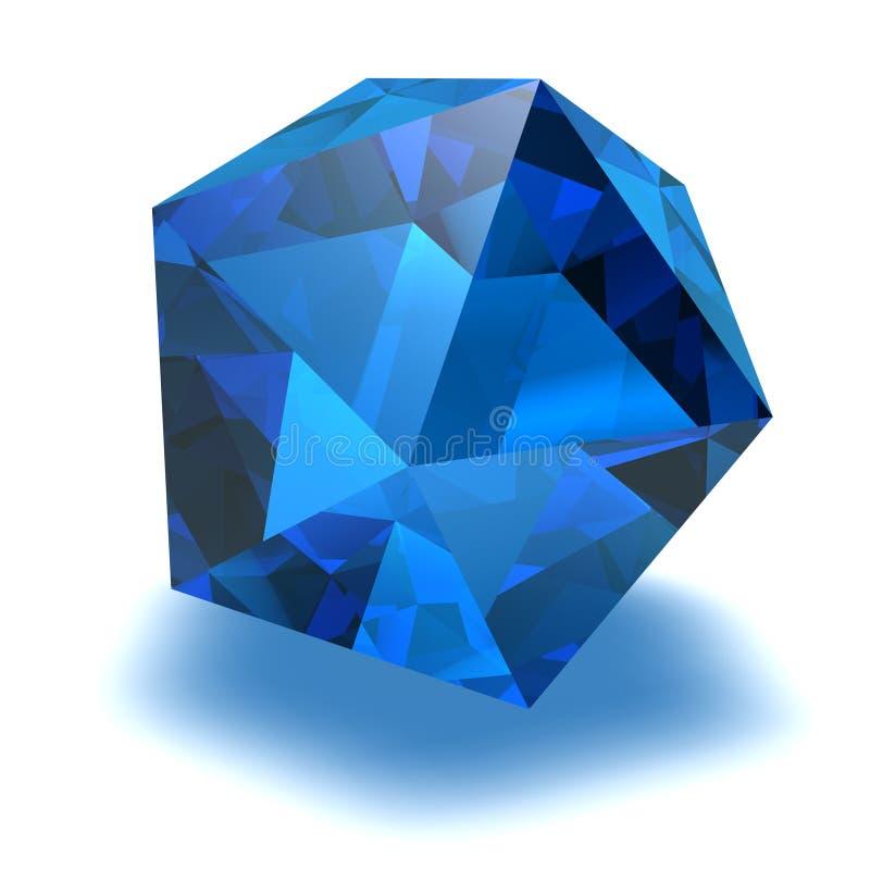 Blauwe gem vector illustratie