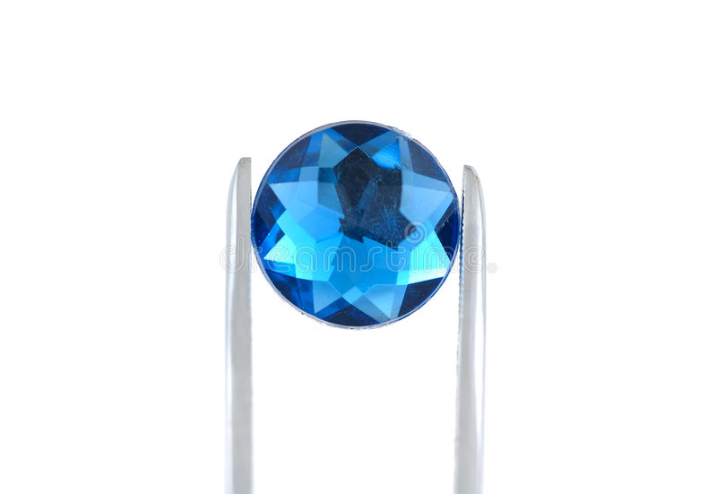 Blauwe Gem stock afbeelding