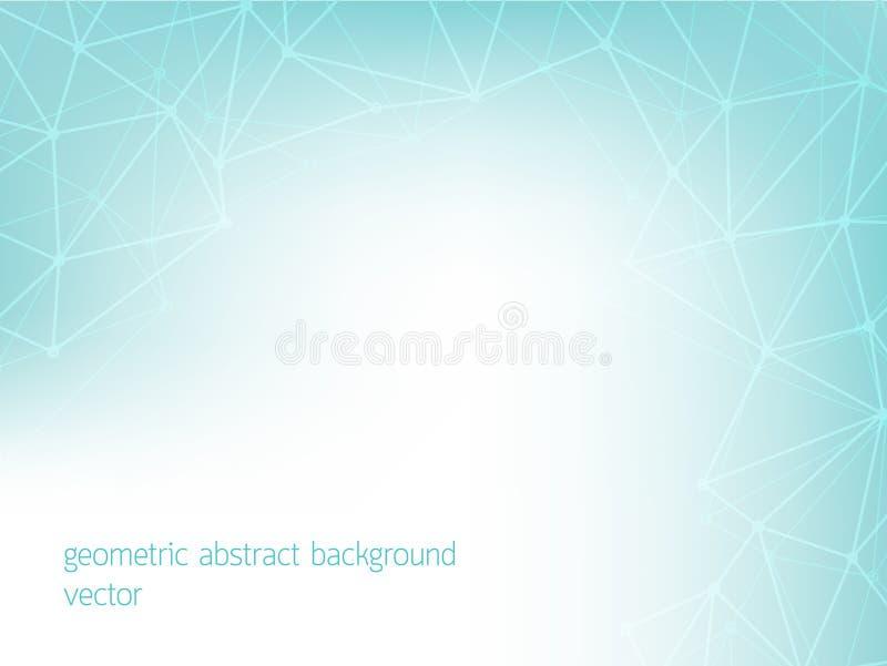 Blauwe geometrische abstracte achtergrond van blauwe kleur stock illustratie