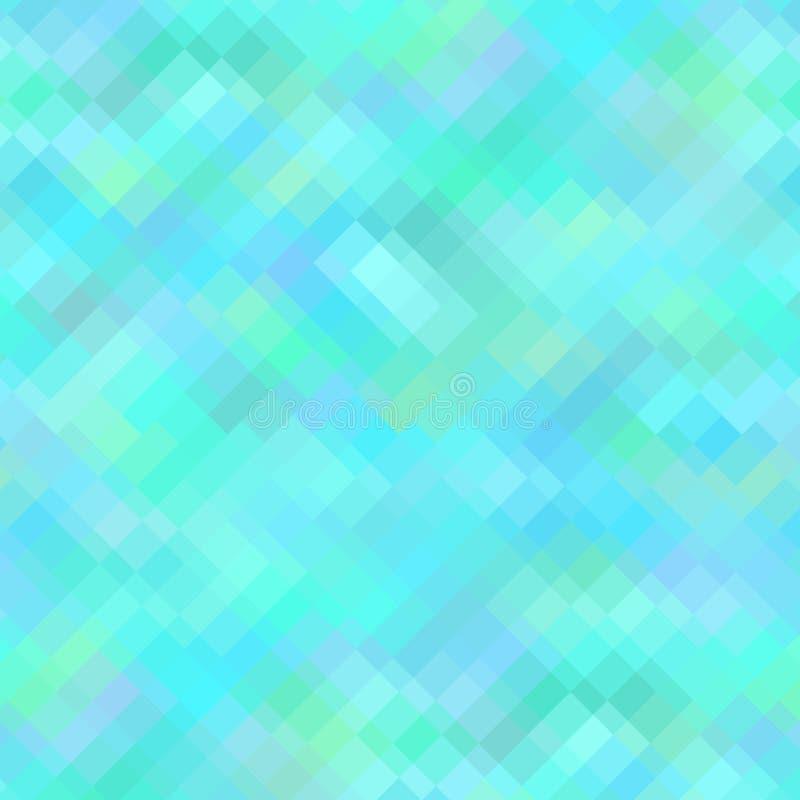 Blauwe Geometrische Achtergrond, Naadloos Patroon royalty-vrije illustratie
