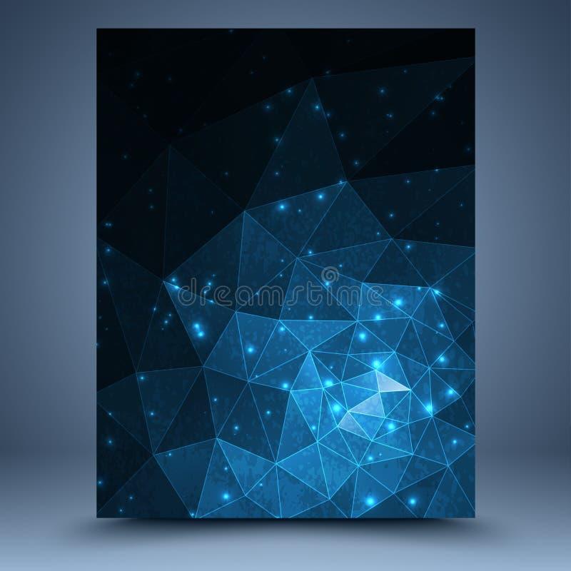 Blauwe geometrische tamplate royalty-vrije illustratie
