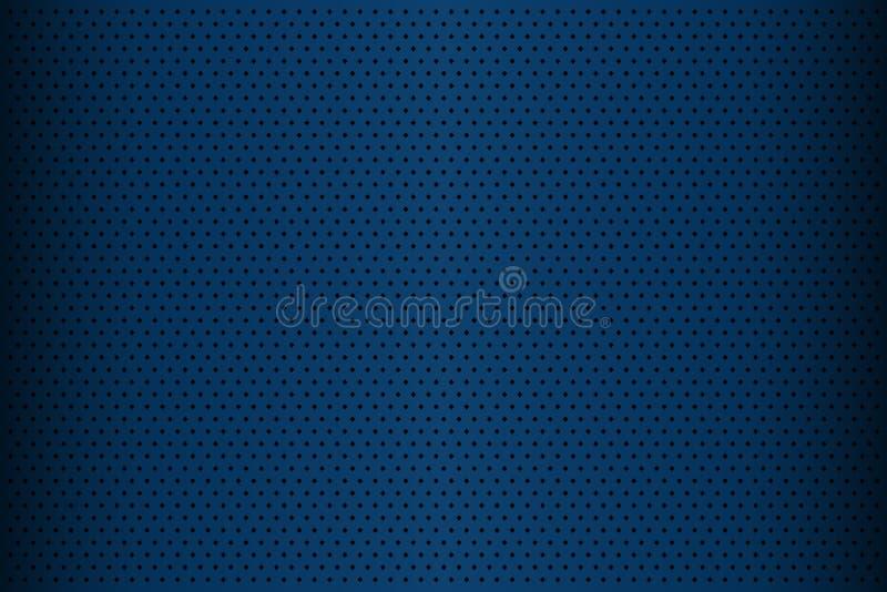Blauwe geperforeerde metaaltextuur, abstracte achtergrond vector illustratie