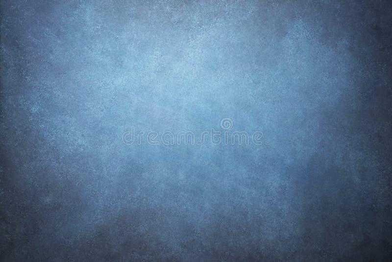 Blauwe geschilderde canvas of mousseline de studioachtergrond of bedelaars van de stoffendoek stock illustratie