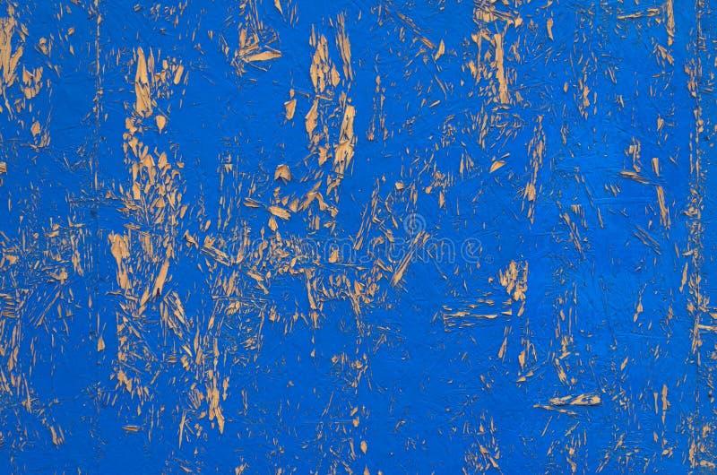 Blauwe geschilderde houten textuur royalty-vrije stock foto's