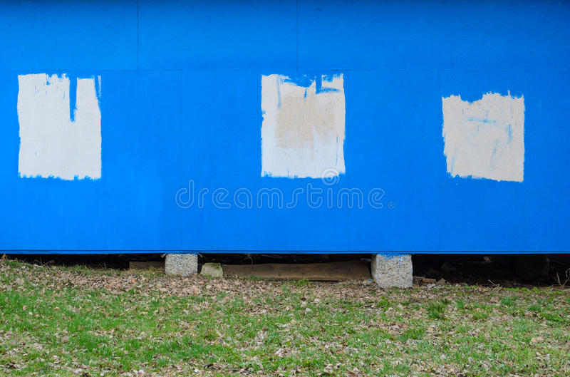 Blauwe geschilderde houten textuur stock foto's
