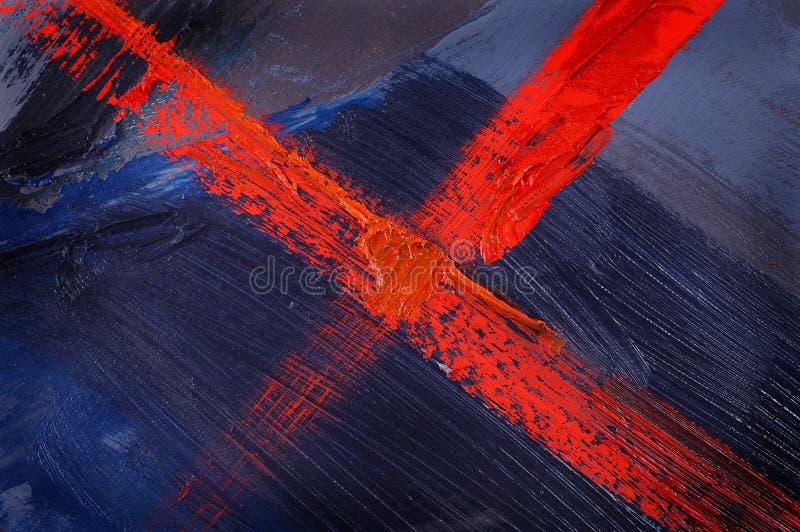 Blauwe geschilderde samenvatting stock foto