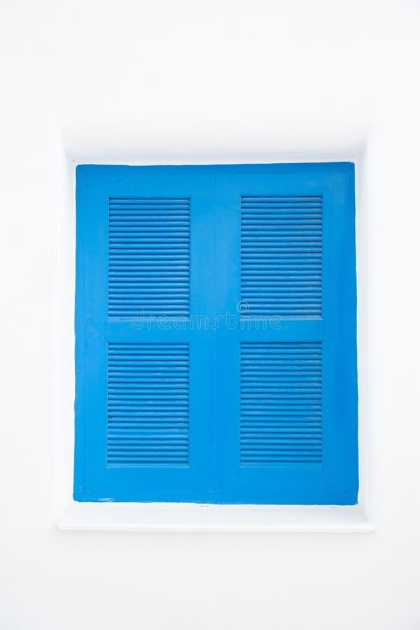 Blauwe gesloten vensters stock afbeeldingen