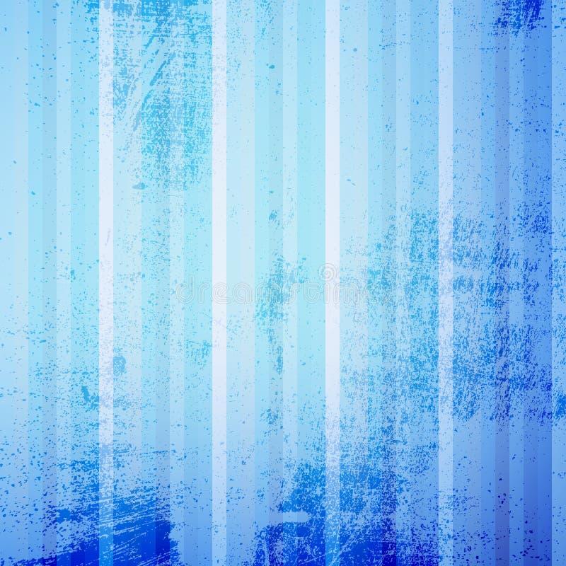 Blauwe Gestreepte Grunge vector illustratie