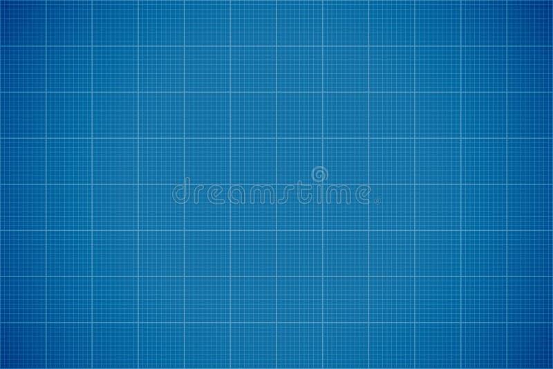 Blauwe Gevoerde Blauwdrukachtergrond stock illustratie