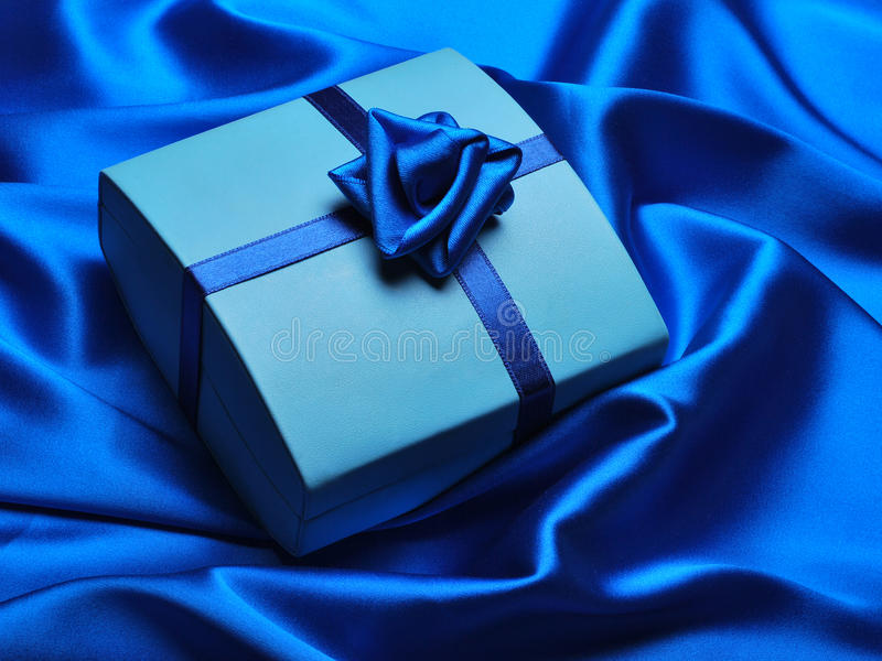Blauwe Gift stock afbeelding