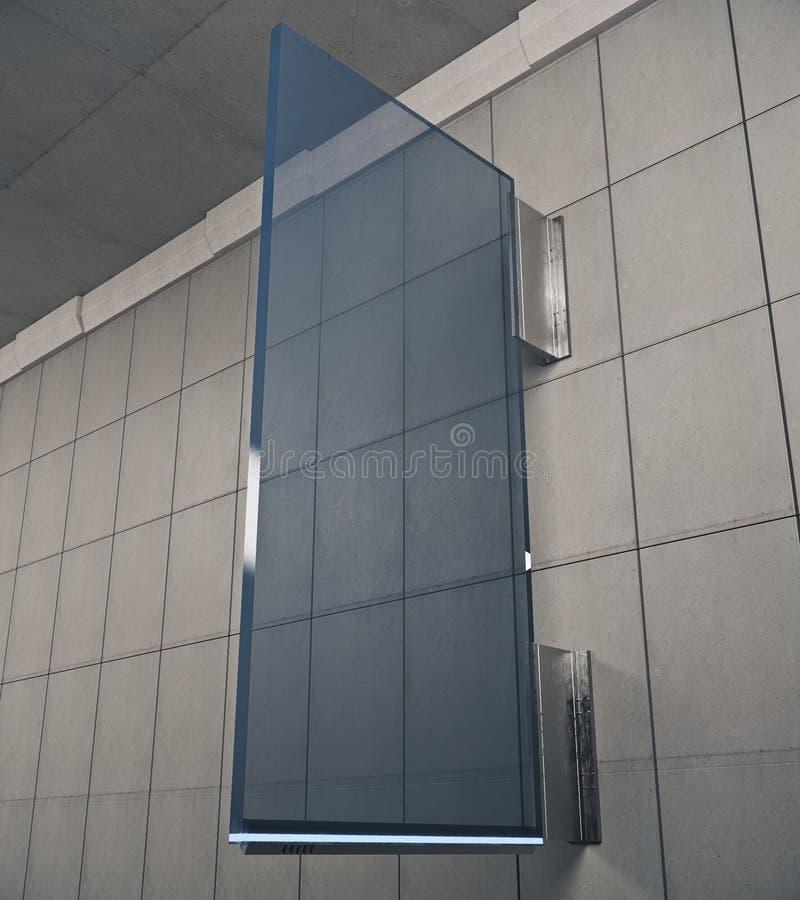 Blauwe glaskurk vector illustratie