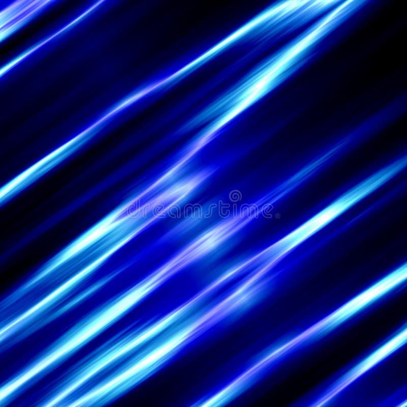 Blauwe Glazige Achtergrond Leeg muurdocument Modern stijlart. Schone Watergolf Zwarte zijdegolven Het frame van het metaal De str vector illustratie