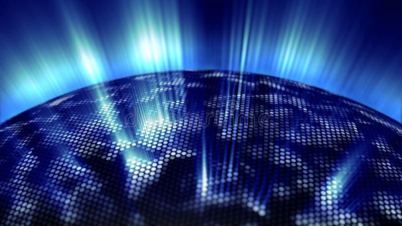 Blauwe gloed van het digitale gebied stock illustratie