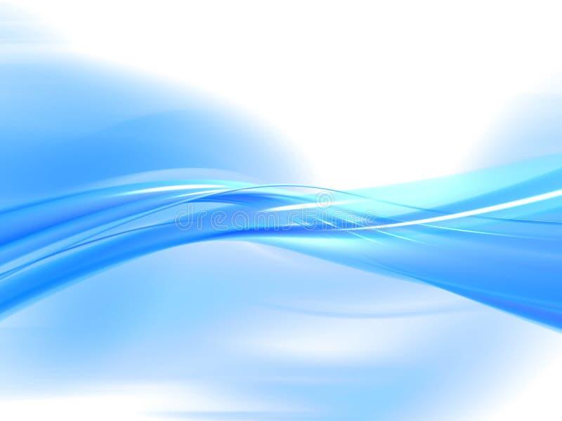 Blauwe golf royalty-vrije illustratie