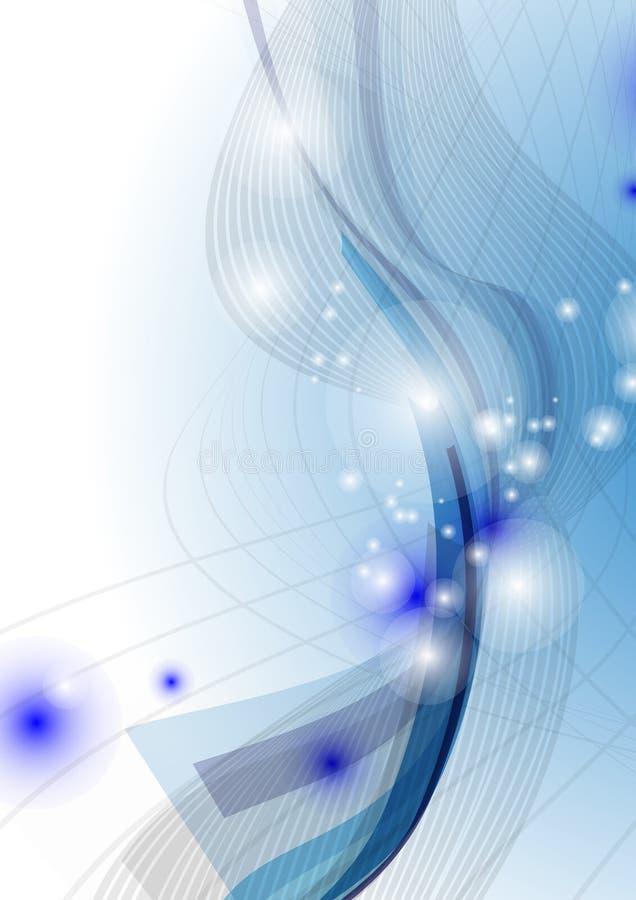 Blauwe Golf Abstracte Achtergrond. royalty-vrije illustratie