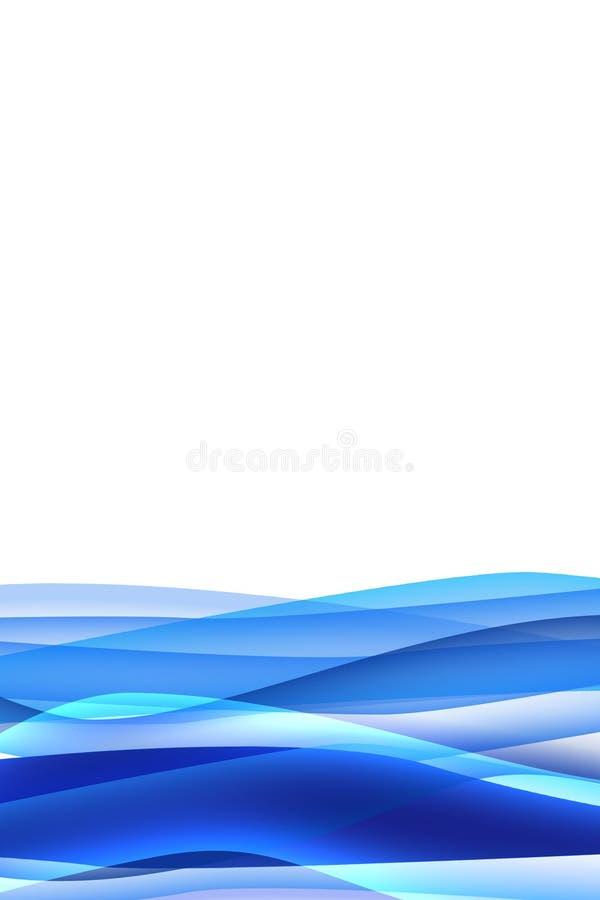 Blauwe golfachtergrond royalty-vrije illustratie