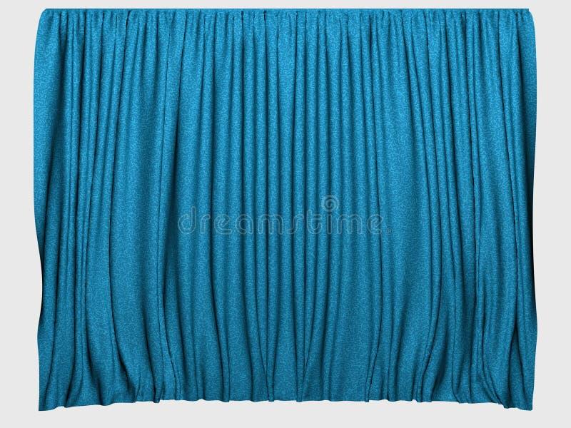 Blauwe gordijnen stock illustratie. Illustratie bestaande uit ...