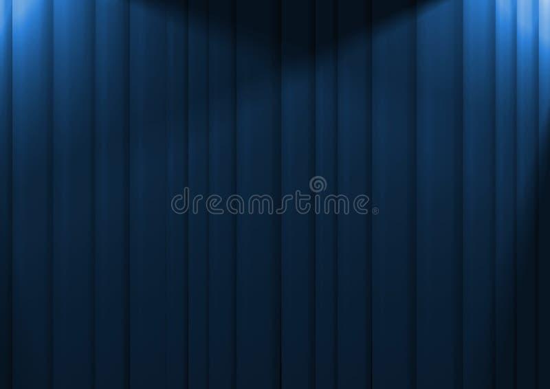 Blauwe Gordijnen stock illustratie. Illustratie bestaande uit drapes ...