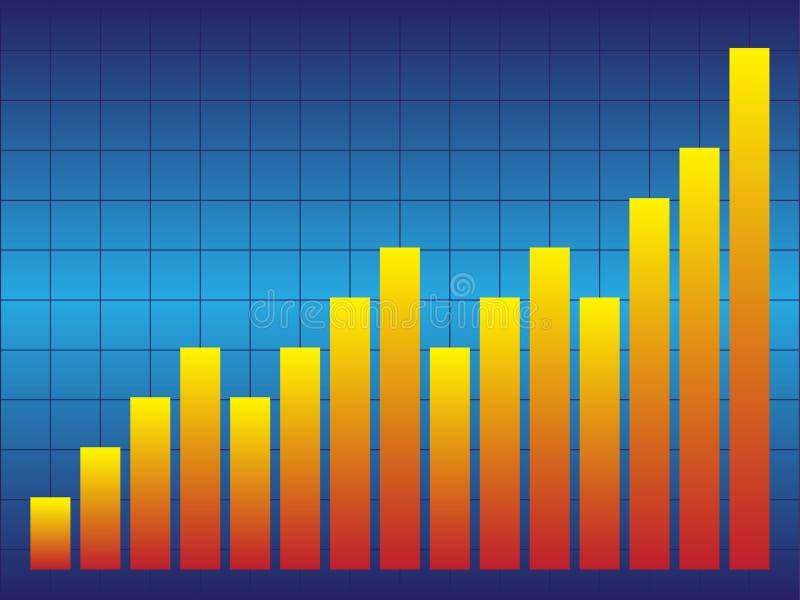 Blauwe Grafiek royalty-vrije illustratie