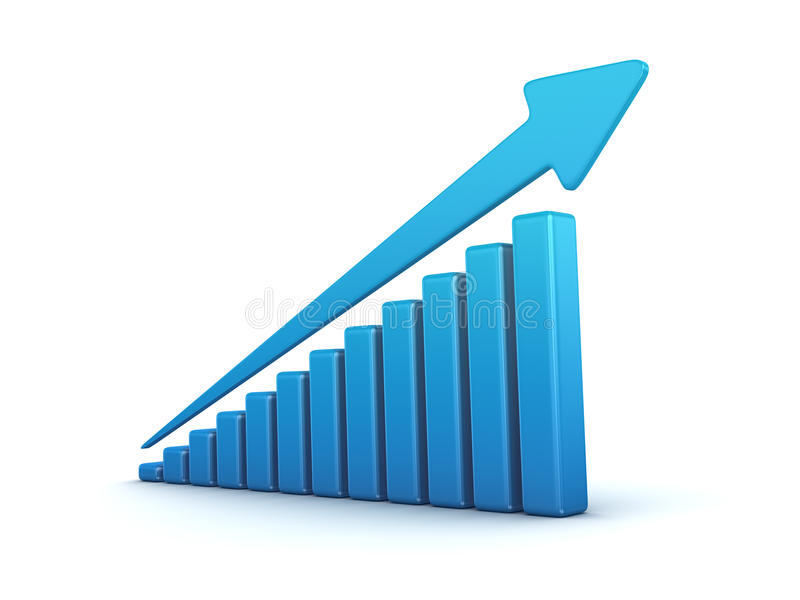 Blauwe grafiek stock illustratie