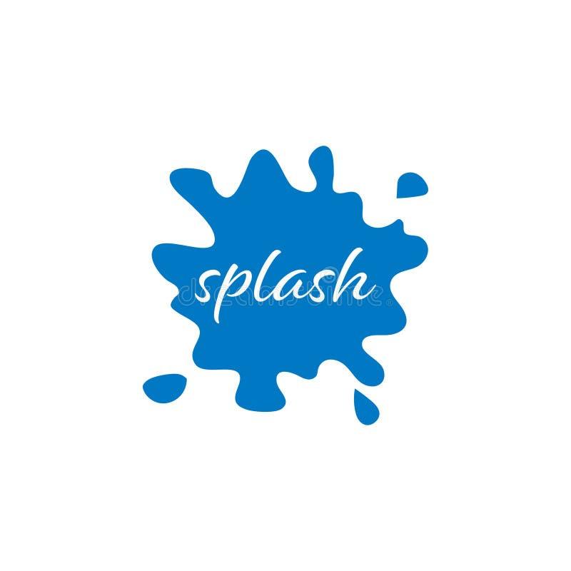 Blauwe grafische de ontwerpsjabloonvector van het plonswater royalty-vrije illustratie