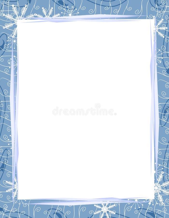 Blauwe Grens 2 van de Sneeuwvlokken van Kerstmis royalty-vrije illustratie