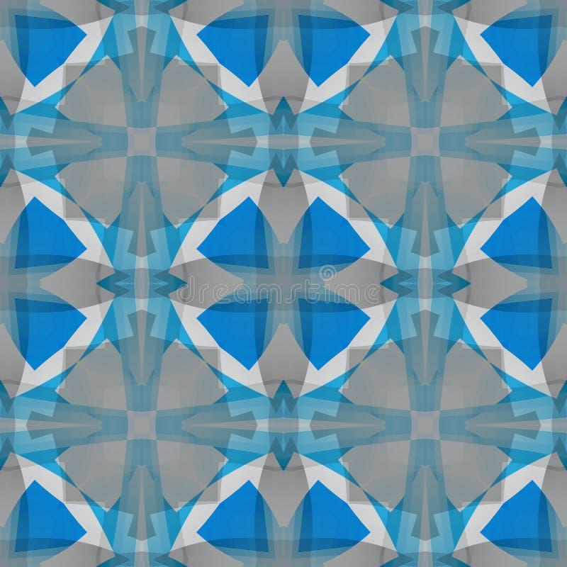 Blauwe grijze abstracte textuur Vierkante naadloze tegel Eenvoudige Illustratie Als achtergrond Textieldrukpatroon De stoffenontw royalty-vrije illustratie