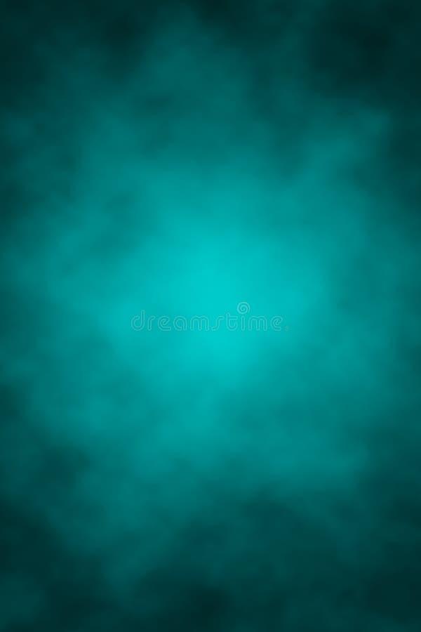 Blauwe grijze achtergrond, wolken, Halloween, plaats voor letters, gradiënt, vlekken, donker, nachtelijke hemel stock illustratie