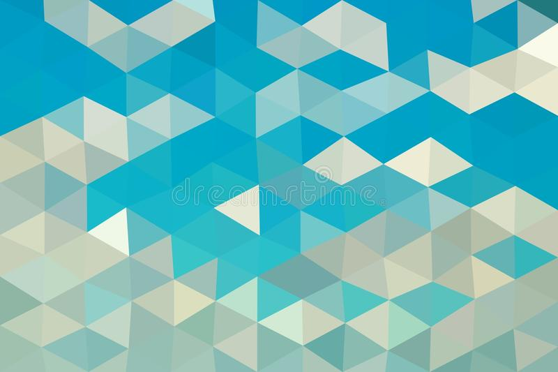 Blauwe grijze lage veelhoekige vector als achtergrond stock illustratie