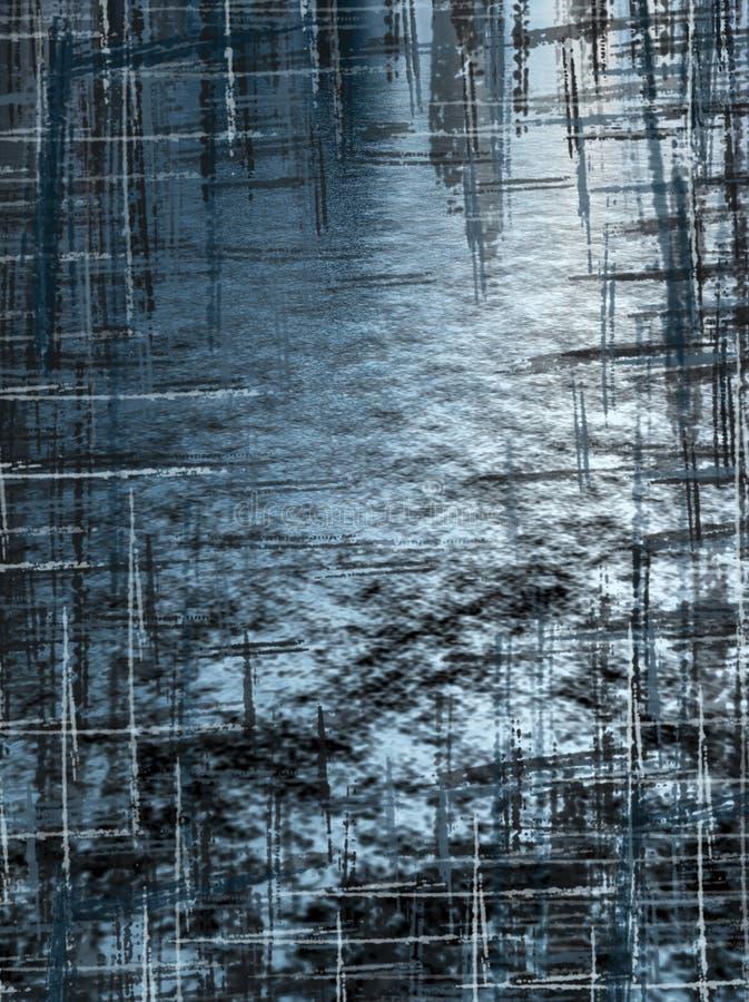 Blauwe Grunge Crosshatch Gratis Stock Afbeelding