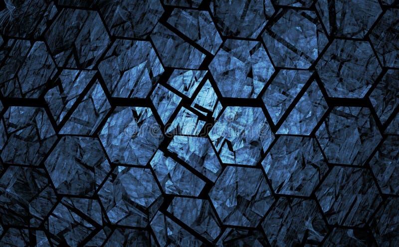 Blauwe grunge geometrische achtergrond royalty-vrije illustratie