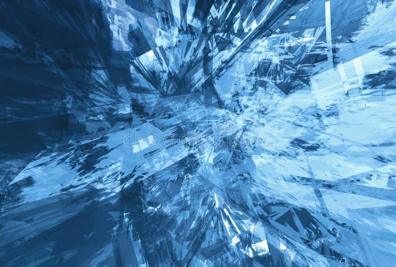 Blauwe grunge van de boom vector illustratie