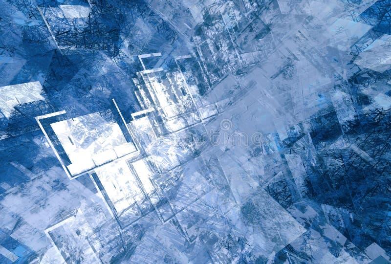 Blauwe grungesamenvatting stock illustratie