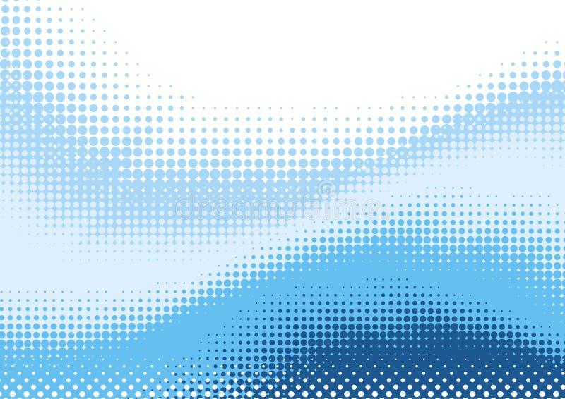 Blauwe halftone achtergrond royalty-vrije illustratie