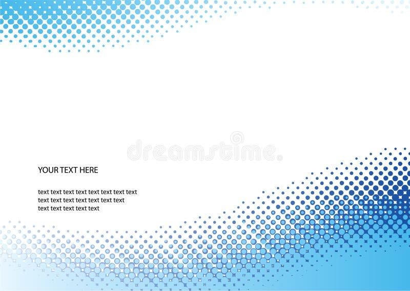 Blauwe halftone achtergrond stock illustratie