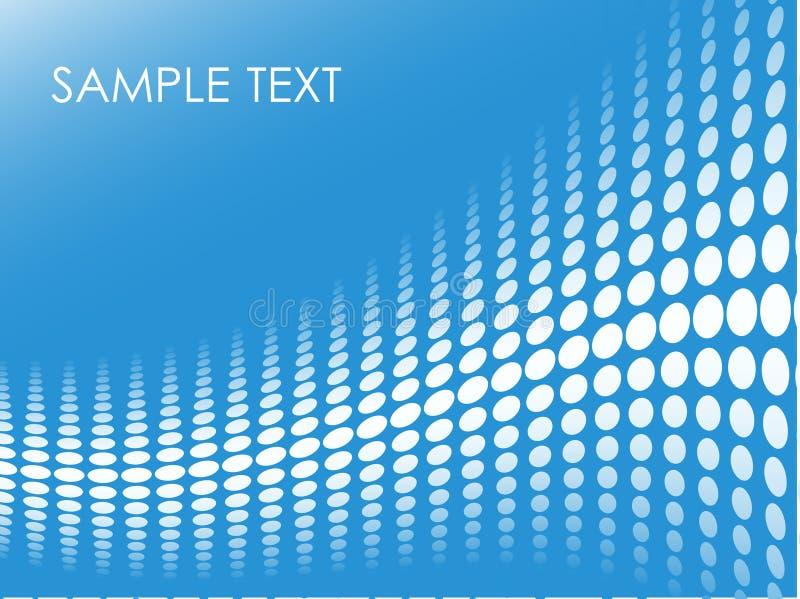 Blauwe halftone achtergrond vector illustratie