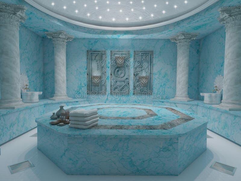 Blauwe hammam spa