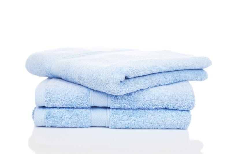 Blauwe handdoeken royalty-vrije stock foto