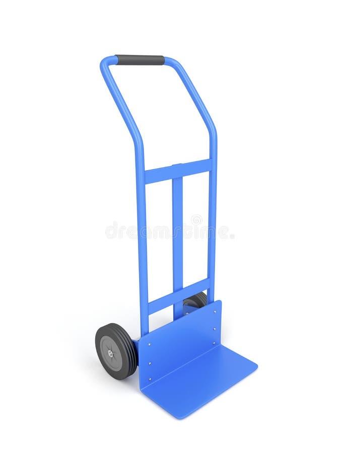 Blauwe handvrachtwagen royalty-vrije illustratie