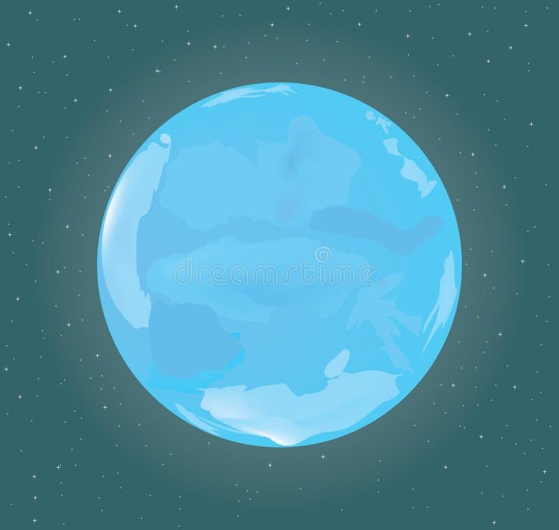 Blauwe heldere maan