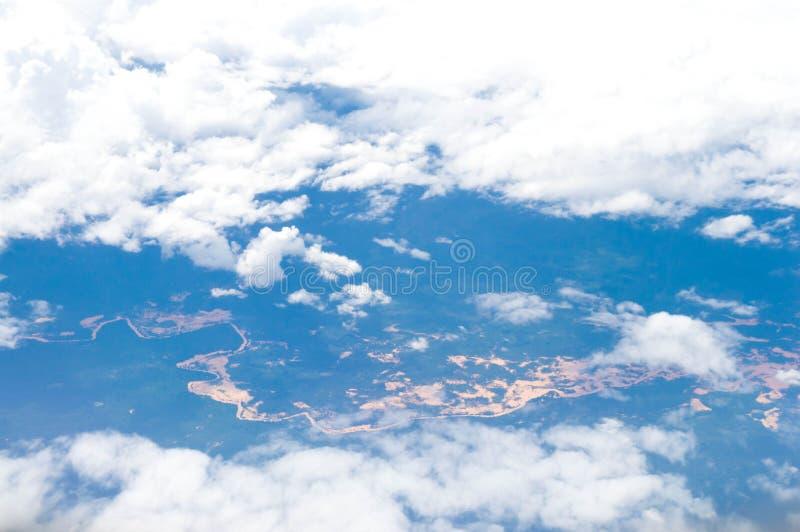 Blauwe hemel stock fotografie