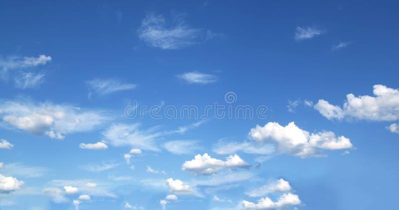 Blauwe hemel en wolkenhemel royalty-vrije stock afbeelding