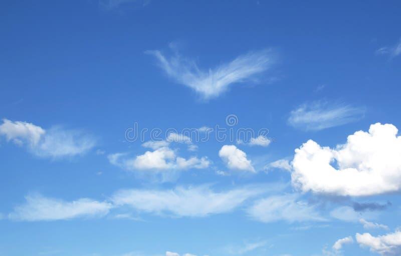 Blauwe hemel en wolkenhemel stock foto