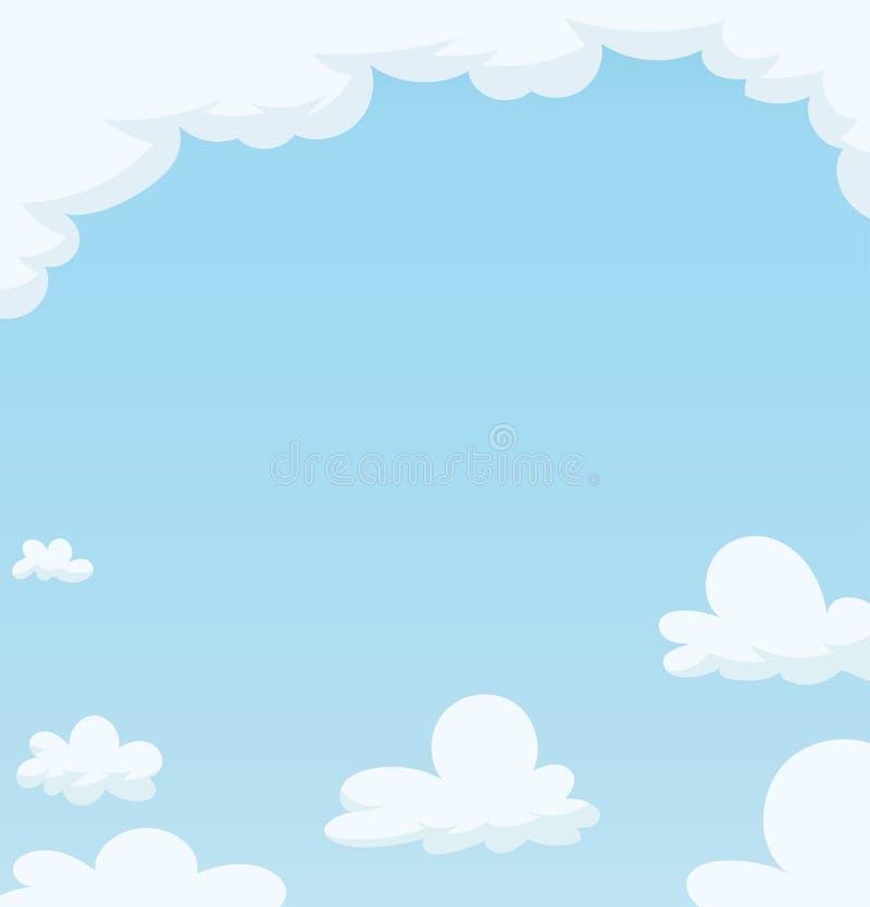 Blauwe hemel met wolk vector illustratie