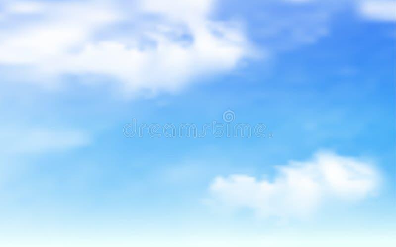Blauwe hemel met wolkenachtergrond royalty-vrije illustratie