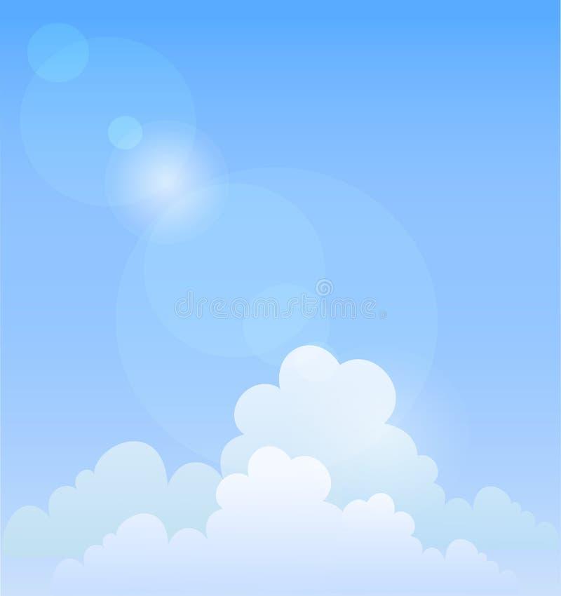 Blauwe hemel. Vector achtergrond vector illustratie